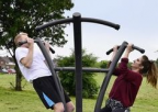 Outdoor Fitness Triple Pull Up
