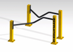 Buitenfitness parallel bars