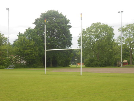 Rugby-Am football-goal 6,2 x 7,11 m.