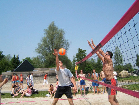 Beachvolleybalnet_recreatie