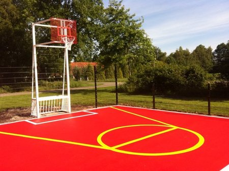 Mini voetbaldoel-basketbalcombi