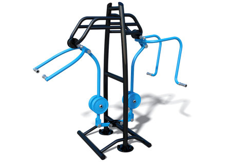 Outdoor fitness Inclusive Chest Press & Pull Down Combo