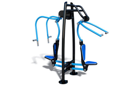 Buiten fitnesstoestel Chest Press & Pull Down Combo